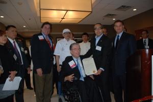 Con el Alcalde de Passaic, Alex Blanco, y otras personalidades empresariales.