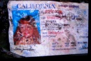 Licencia de conducir de Jenni Rivera emitida por el estado de California
