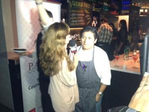 Liliana Herrera entrevistando a Victoriano López, el chef encargado de abrir los restaurantes de Gastón Acurio en diferentes ciudades del mundo. ¡Todo un orgullo peruano!
