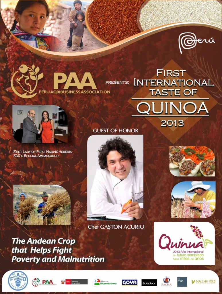 TASTE OF QUINOA NYC GASTON ACURIO