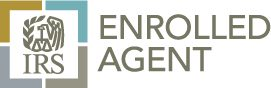 Logotipo de Agente Enrolado ante el IRS que otorga mayor confianza al contribuyente.