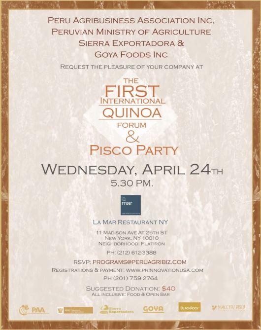 042013 FIRST QUINOA FORUM 2013