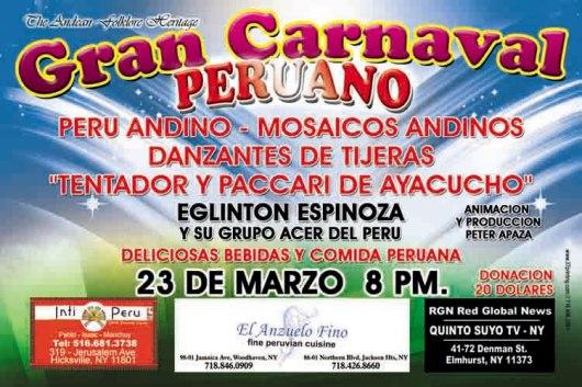 CARNAVAL PERUANO AFICHE