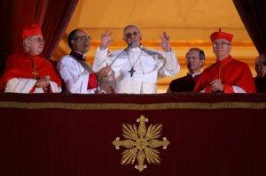 Su primera oración como Papa Francisco.