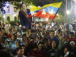 Seguidores de Hugo Chávez, en Caracas, Venezuela.