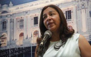 Marisol Espinoza, Primera Vicepresidenta del Perú, se mostró complacida por la solución de la crisis entre Perú y Ecuador.