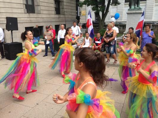 La alegría y cultura de los dominicanos resaltó durante la actividad.