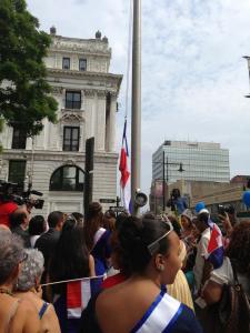 La bandera de la República Dominicana fue izada el pasado sábado 31 de agosto durante una ceremonia emotiva y entusiasta.
