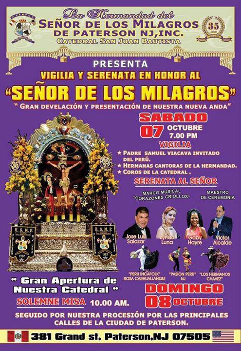 SENOR DE LOS MILAGROS DOMINGO 08 DE OCTUBRE