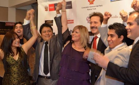 """El musical peruano """"Sueños de Gloria"""" tuvo un exitoso Avant Premiere en el Lincoln Center de Manhattan con la presencia del actor Paul Martin y el productor Ricardo Quispe, entre otros."""