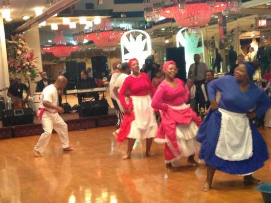 Masters de la Música Afroperuana durante su actuación en el Astoria World Manor en el Día de la Canción Criolla en Nueva York.