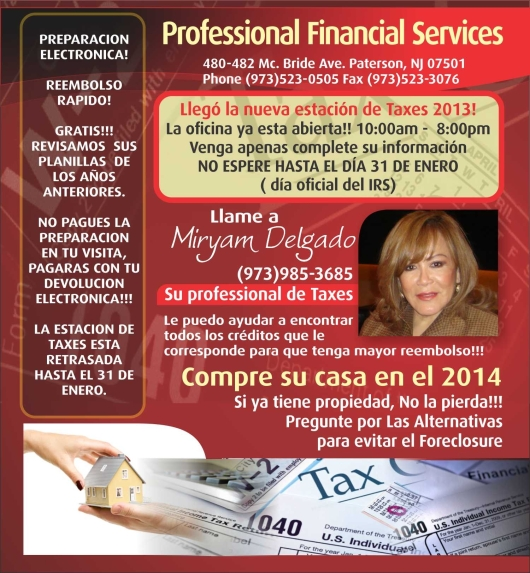 PROFESSIONAL FINANCIAL SERVICES SPANISH