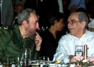 Con su amigo personal, Fidel Castro.