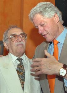 Con el presidente estadounidense Bill Clinton