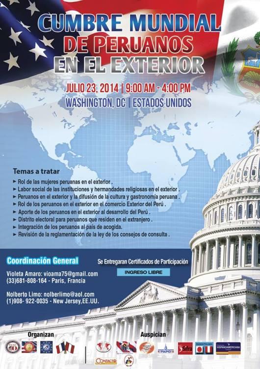 072214 CUMBRE MUNDIAL DE PERUANOS EN EL EXTERIOR