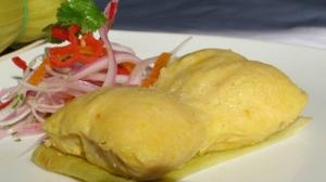 Humitas calentitas en la Feria Gastronómica UNICA.