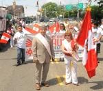 La periodista peruana radicada en Nueva York, marchó como Abanderada del Primer Desfile Peruano. FOTO: EDILBERTO ALVARADO