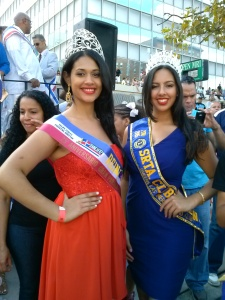 La belleza dominicana también resaltó durante la tradicional y entusiasta actividad.