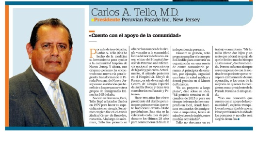 102414 EL AWARDS CARLOS A. TELLO CROP