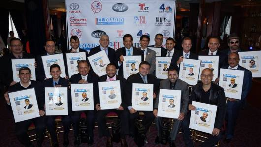 Grupo de latinos premiados con EL AWARDS que otorga anualmente EL DIARIO de Nueva York.