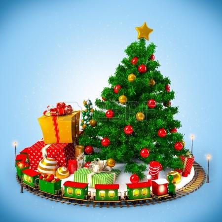 22478778-fondo-de-navidad-arbol-de-navidad-regalos-y-ferrocarril-en-azul