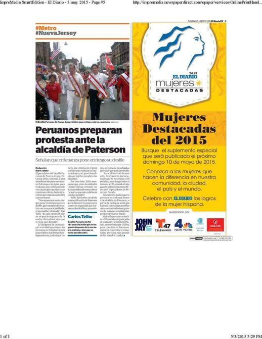 050315 PUBLICACION DE EL DIARIO