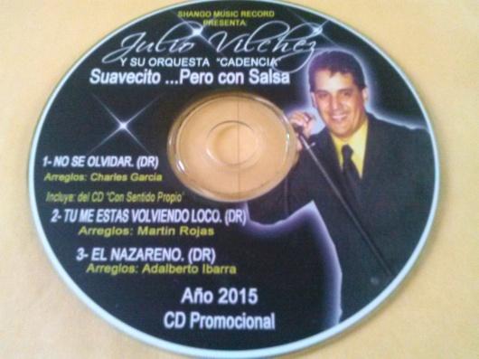 Tras el lanzamiento de este CD, Vilchez prepara su proxima presentacion con su orquesta en vivo.