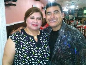 Jorge Luis Jasso, luego de su actuacion en el restaurante