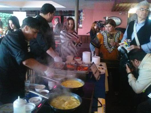 Pescado a lo Macho, uno de los potajes mas aplaudidos durante la exhibicion de la cocina peruana.