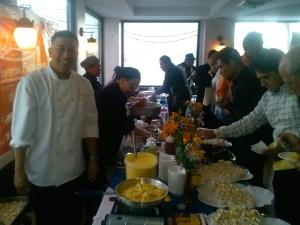 'Delizioso Grill Restaurant', de Paterson, dijo presente en la gran Fiesta de la Gastronomía Peruana, con su chef Edgardo Medina.