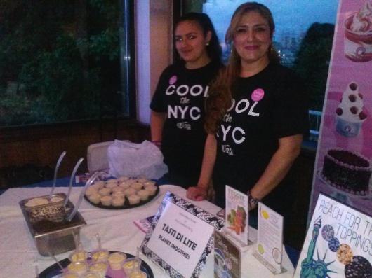 Verónica Zubiaga, de Tasti Di Lite, Planet Smothies, presentó sus deliciosos helados de lúcuma, bajo en calorías.