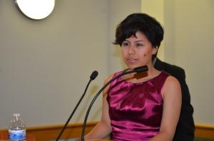 Kelsey Rojas, ganadora de la 'Beca Jose Rohaidy' otorgada por el Capitulo de Nueva Jersey de la Asociacion Nacional de Periodistas Hispanos (NAHJ). FOTO: ALEJANDRO ROMAN