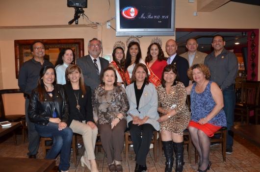 Directivos y personalidades que participaron de la conferencia de prensa en la que se detallaron las actividades de la Peruvian Civic Association of New Jersey (PCANJ) durante el presente 2015