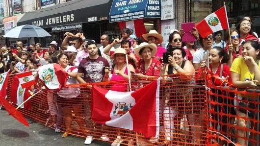 Los peruanos llenaron las calles de Paterson, Nueva Jersey.
