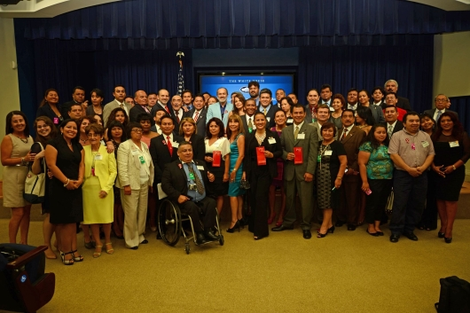 Los peruanos fueron recibidos en la Casa Blanca para celebrar el aniversario de su independencia en el 2013. ARCHIVO