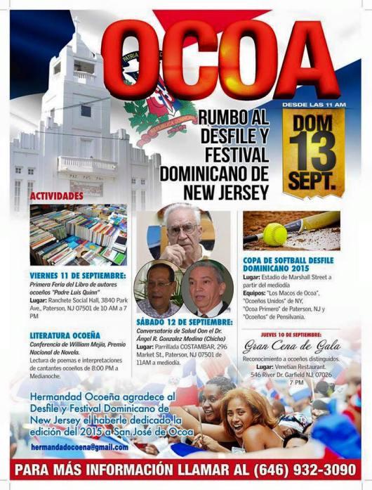 090915 FLYER OCOA DEL DESFILE DOMINICANO DE NJ 2015
