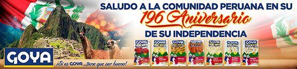 Goya Ad - Los Andes - Peru Independence - WEB BANNER