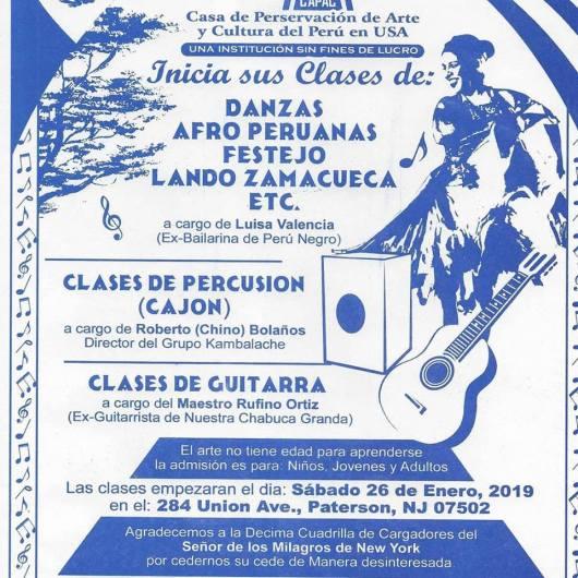 FLYER CLASES DE GUITARRA Y DANZAS