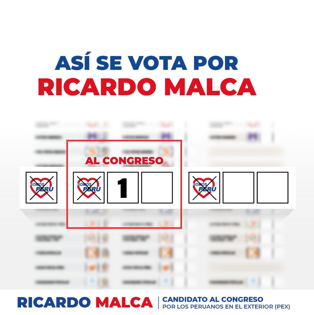 COMO VOTAR POR RICARDO MALCA