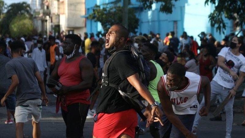 PROTESTAS EN CUBA BBC 01